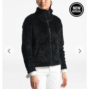 North face zip front fur jacket